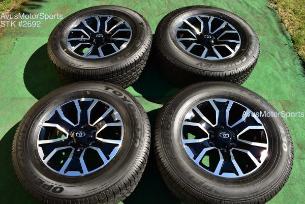 "17"" TOYOTA TACOMA OEM FACTORY TRD SPORT WHEELS & Tires 4runner Tundra 2021 oem2692"
