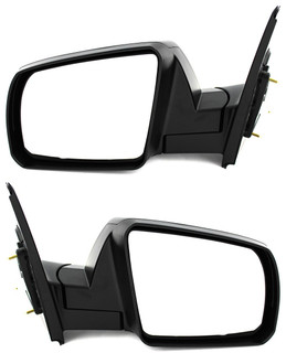 2007-2013 Toyota Tundra SR5 Side Door View Mirror - Folding, Power Operated, Heated , Black Textured - Pair Set