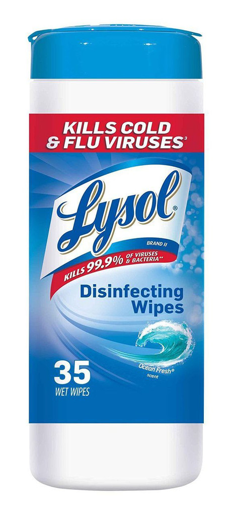 Lysol Disinfecting Wipes, Ocean Fresh, 35-Count