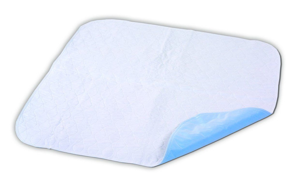 """Essential Medical Supply Quik Sorb 34"""" x 35"""" Quilted Birdseye Reusable Underpad"""