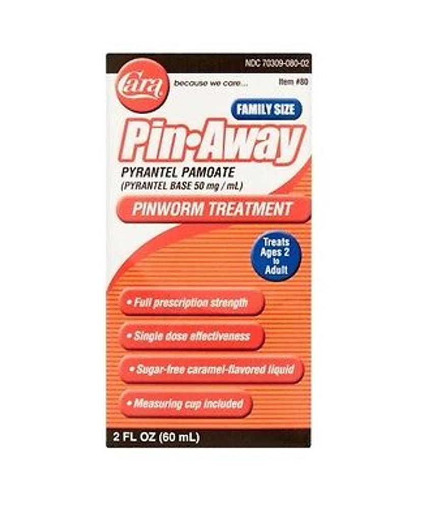 Cara Pin Away Pinworm Treatment, Caramel, Family Size 2 oz