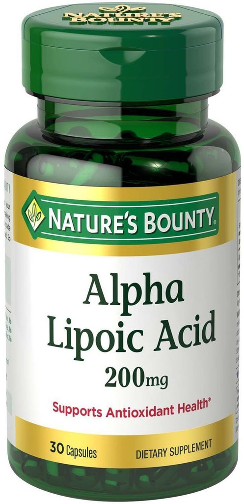 Nature's Bounty Alpha Lipoic Acid Super 200 mg, 30 Capsules