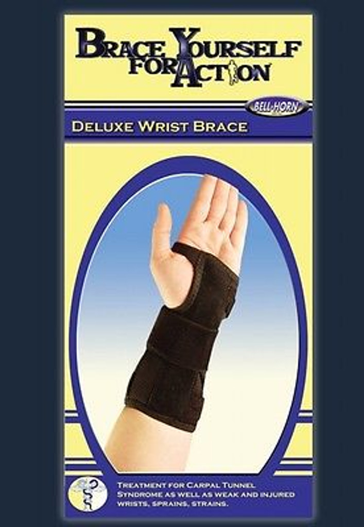 Bell Horn Deluxe Wrist Brace Black size:Small Wrist:Right S/M 5.5''- 7.5''