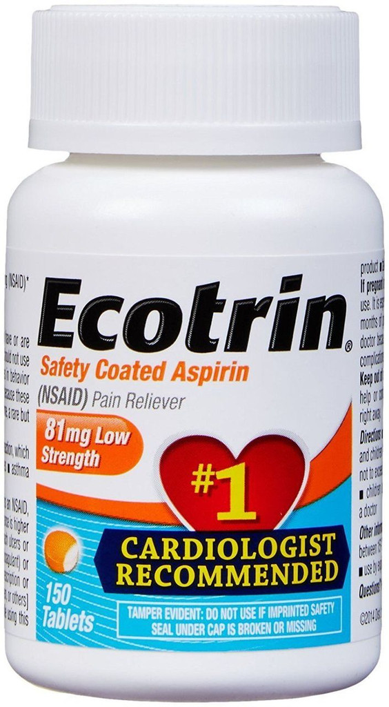 Ecotrin 81 Mg Low Strength Aspirin Tablets 150 Count