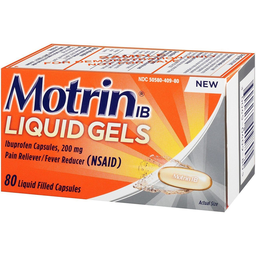 Motrin Liquid Gels 80 Count Relieves minor aches and pains