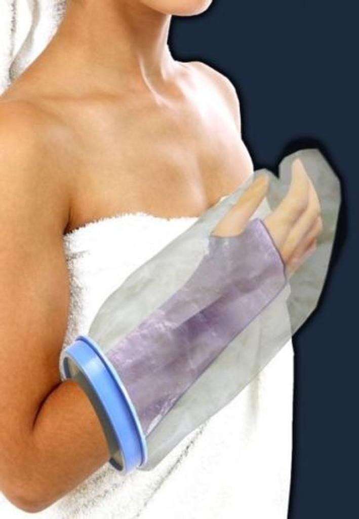 DJO Bell Horn Aqua Armor Cast & Bandage Shower Swim Protector Adult Short Arm