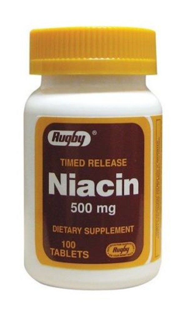 Rugby Timed Release Niacin 500 mg 100 Tablets