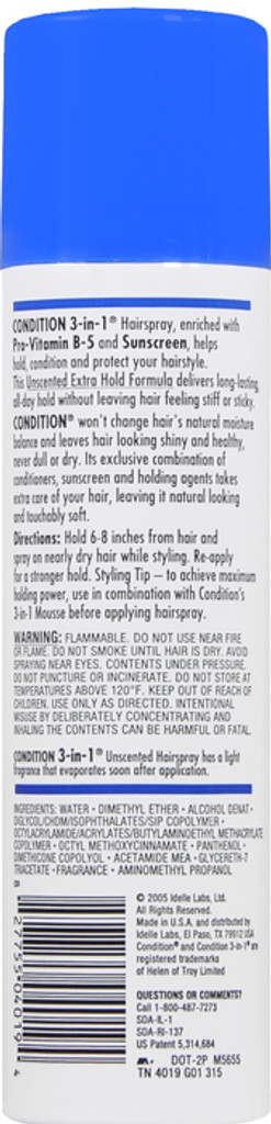 CONDITION_3_In_1_Hairspray_Aerosol_Extra_Hold_Unscented_7_oz_2