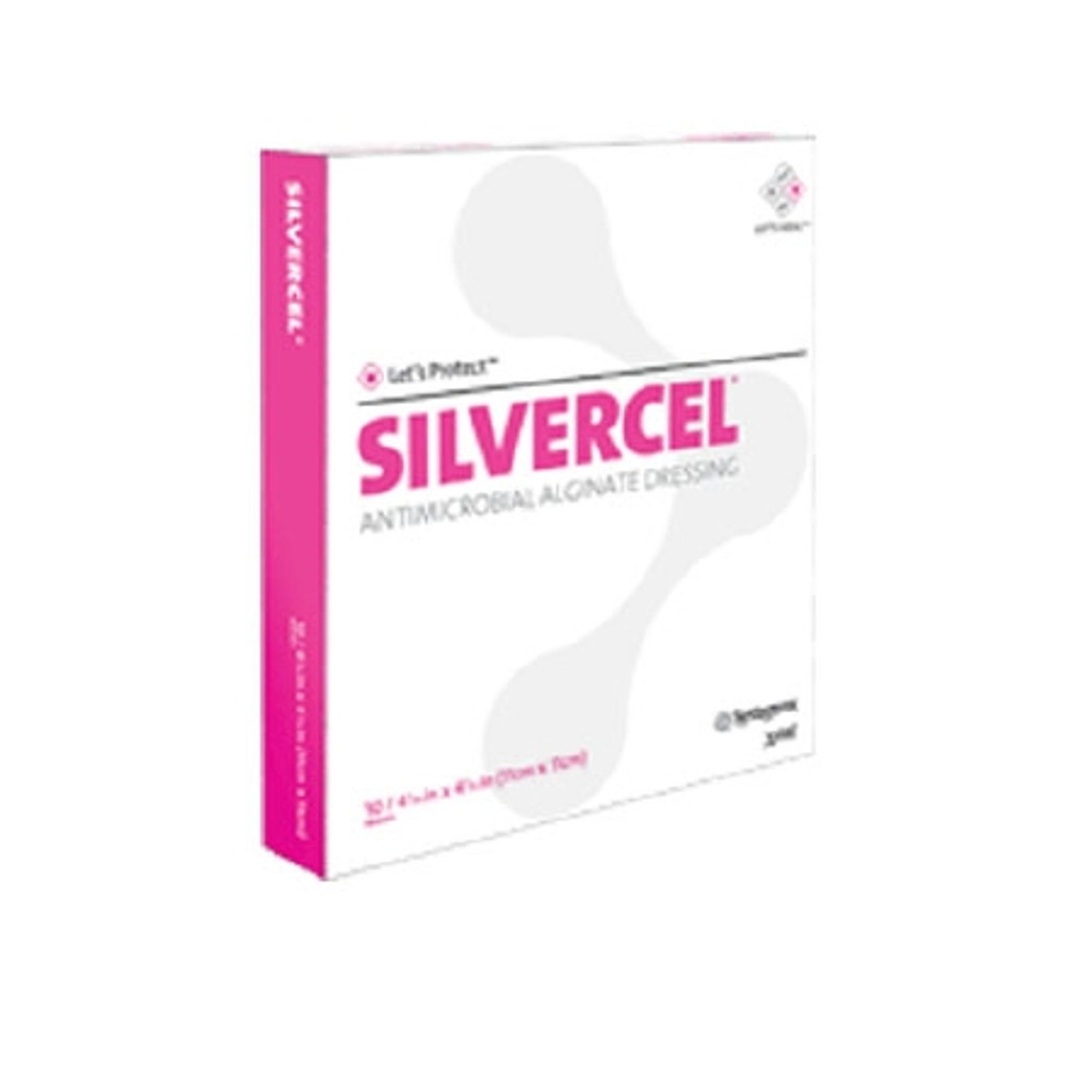 Alginate Dressing with Silver Silvercel® 4 X 8 Inch Rectangle Sterile