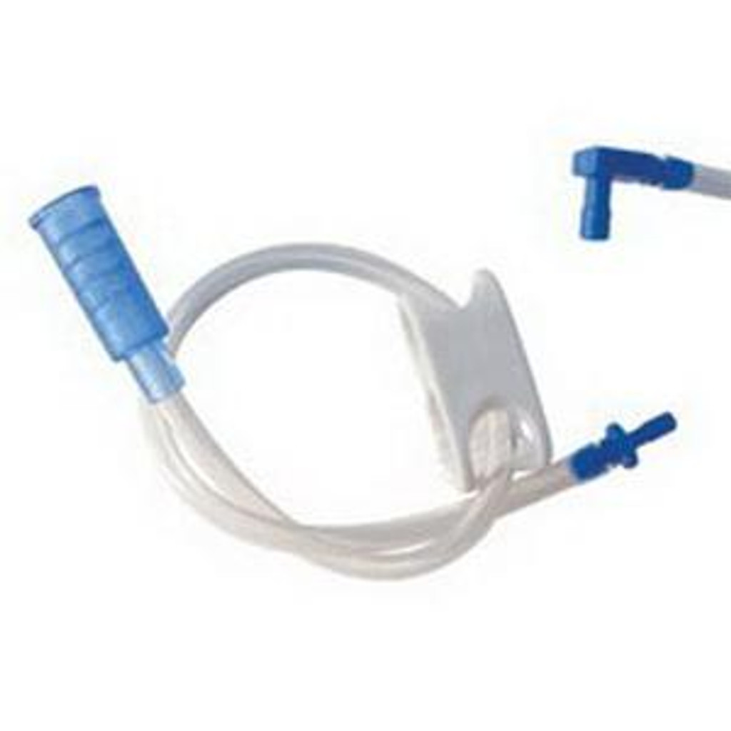 """AMT Right Angle Feeding Extension Set with Y-port 18Fr, 24"""""""