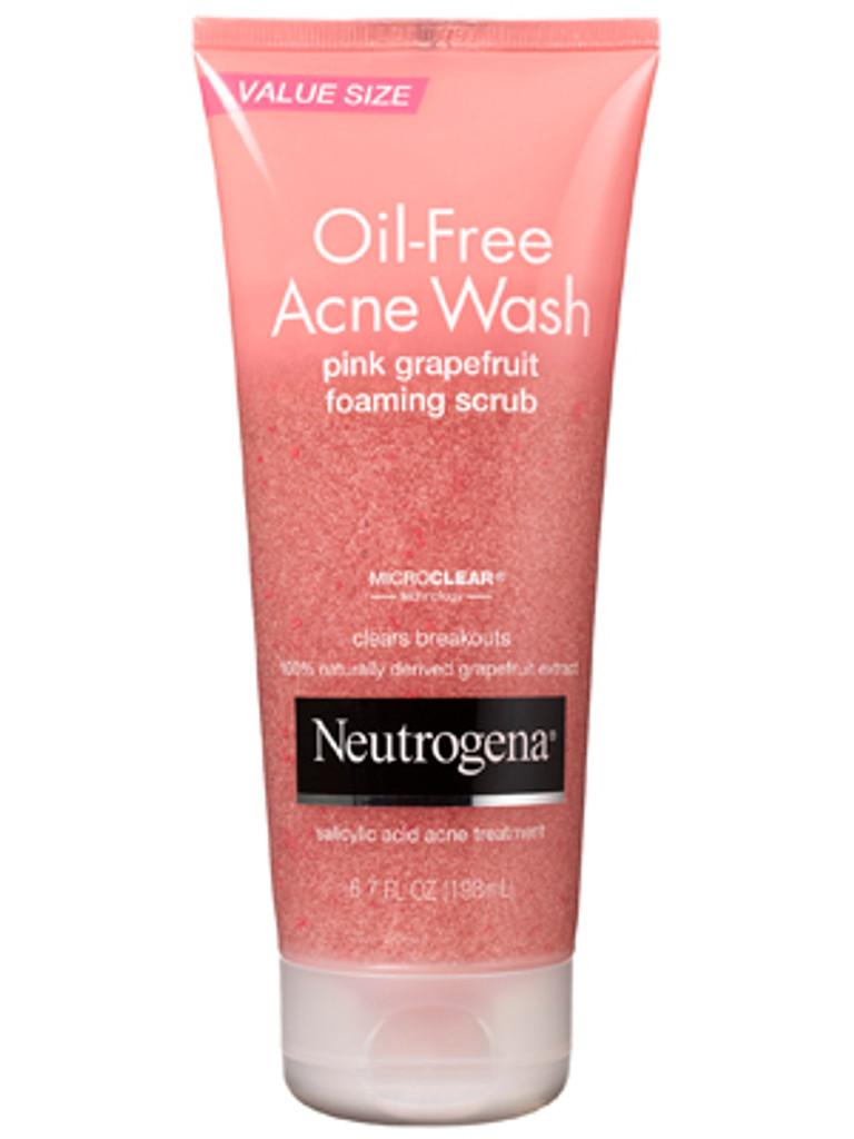 Neutrogena Oil-Free Acne Wash Scrub Pink Grapefruit 4.2 oz
