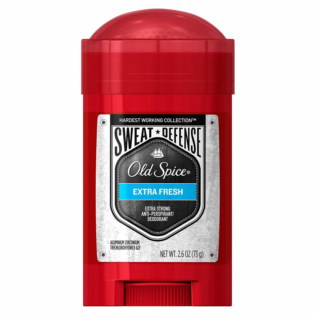Old Spice Hardest Working Collection Sweat Defense Anti-Perspirant & Deodorant, Extra Fresh, 2.6 Ounce