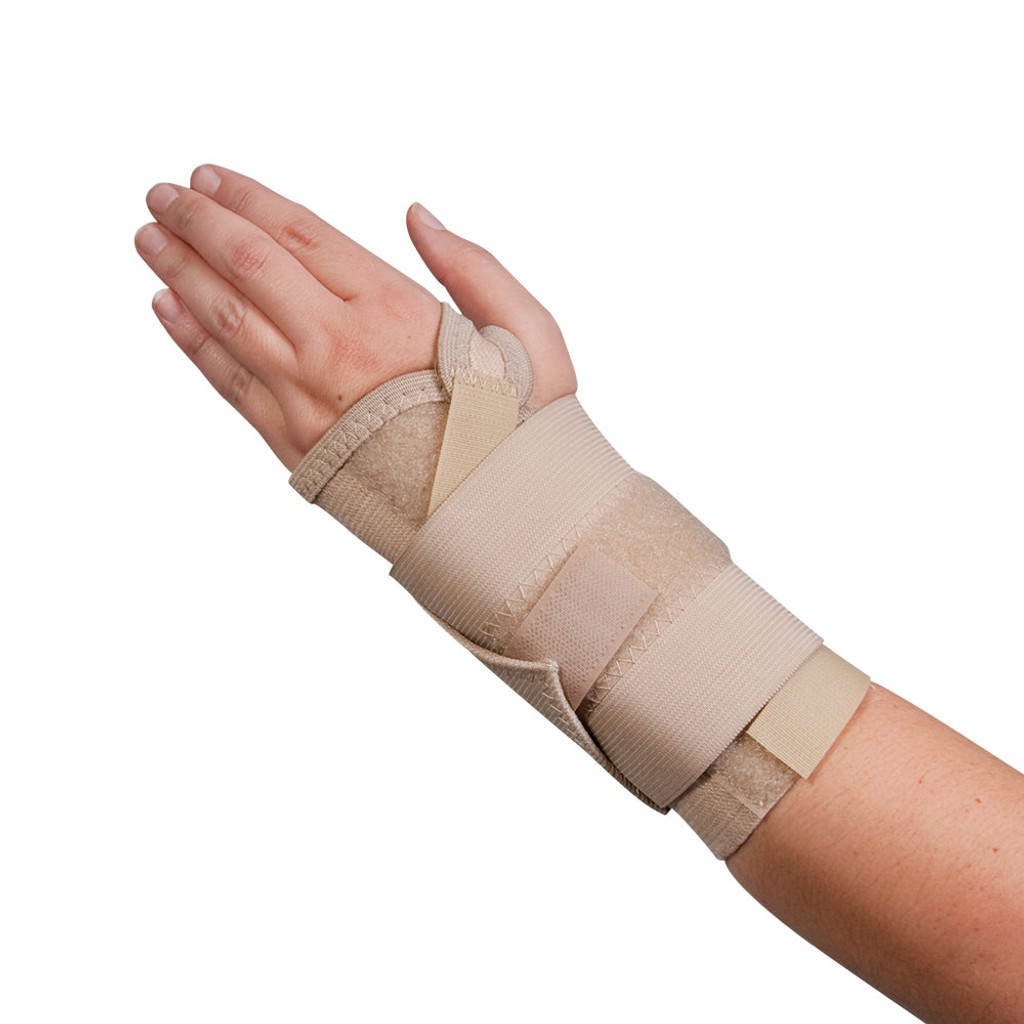 BODYMED CARPAL TUNNEL WRIST SUPPORT, RIGHT, LARGE, BEIGE
