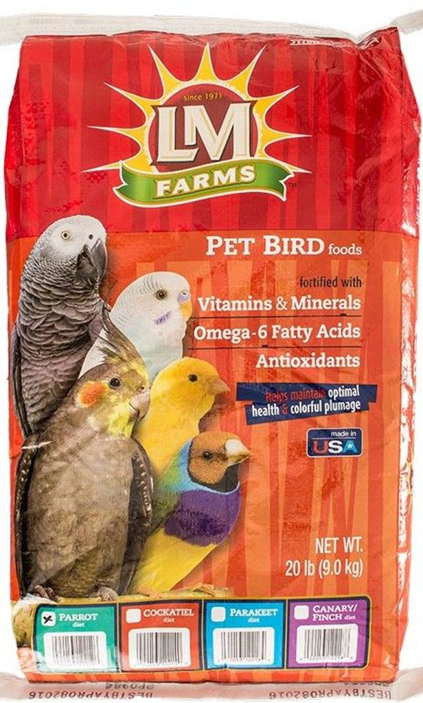 LM Animal Farms Large Parrot Diet 45 lbs