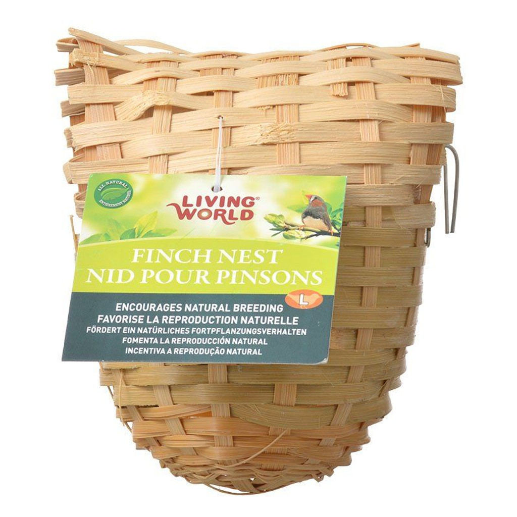 """Living World Bamboo Finch Nest Large (6"""" Long x 5"""" Wide)"""
