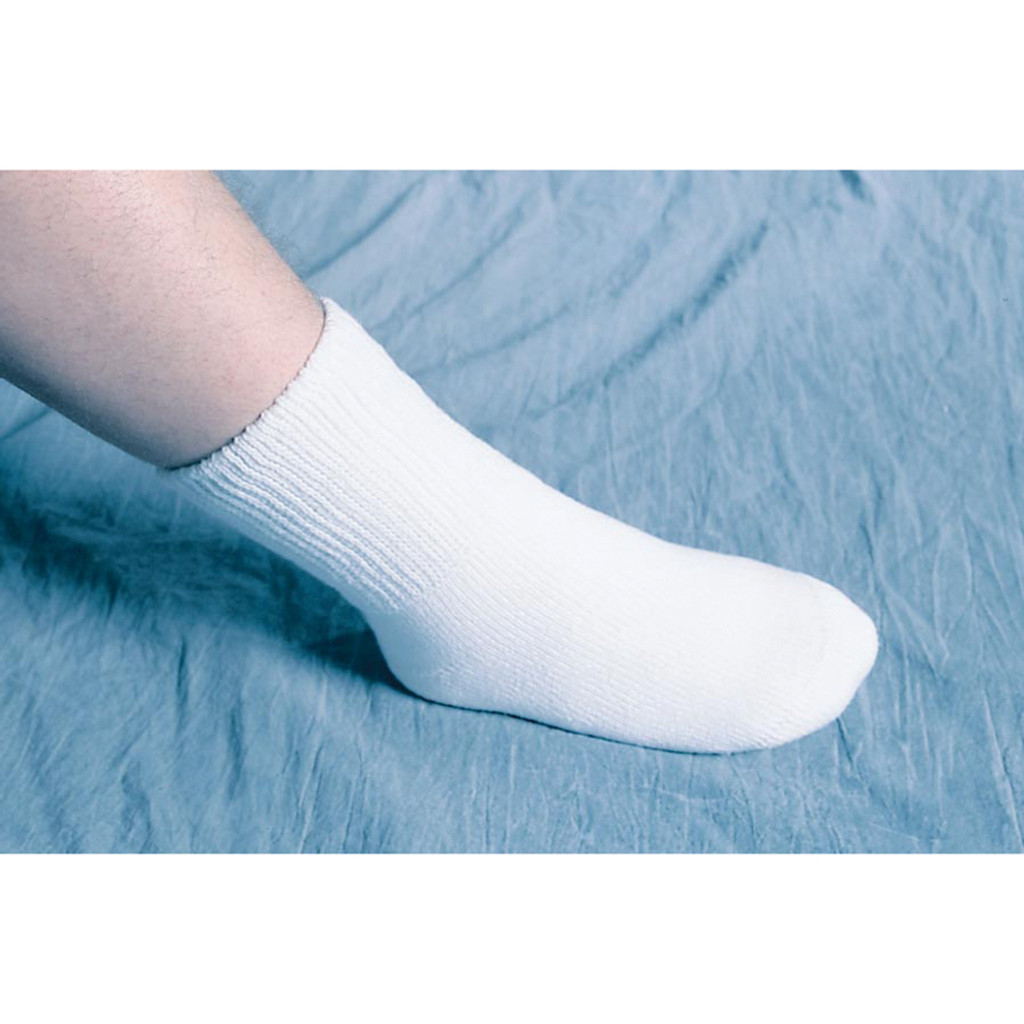 SEAMLESS EVERYDAY SOCKS WHITE X-LARGE MENS 10-12.5/WOMENS 11-13.5 1/PR