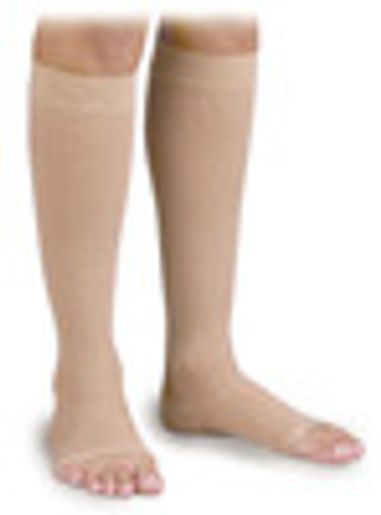 Activa Knee High Anti-Embolism Stockings 18 Compression Open Toe