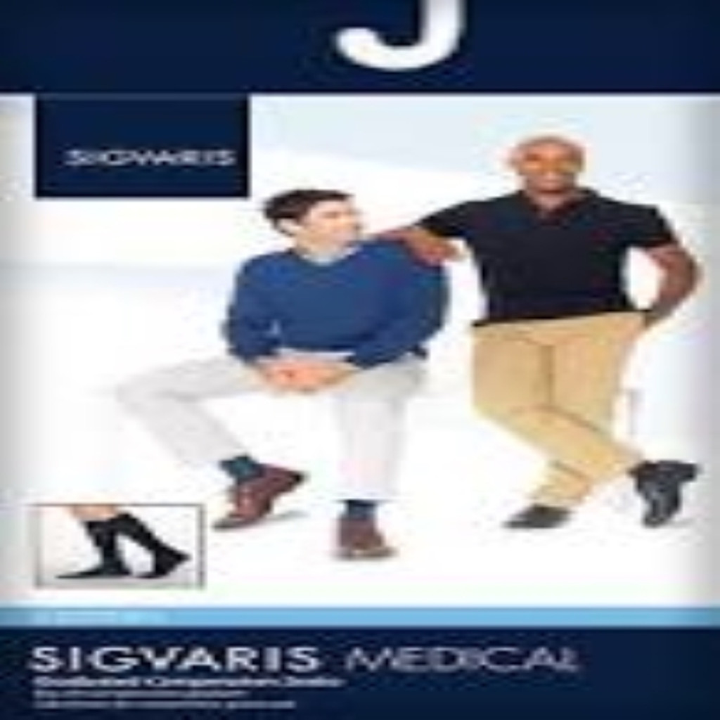 Sigvaris 230 Cotton Series 30-40 mmHg Men's Closed Toe Knee Highs - 233C