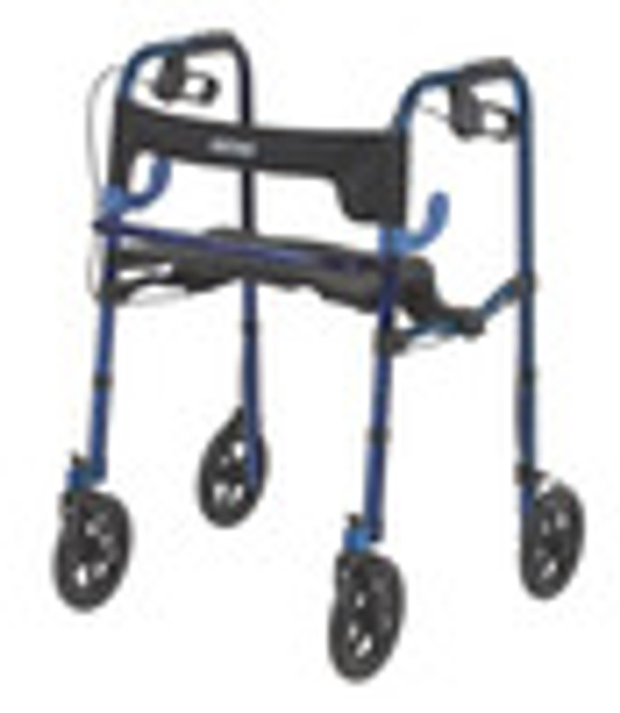 """Drive Adult, Clever-Lite Walker with Seat, Loop Locks and 8"""" Casters"""