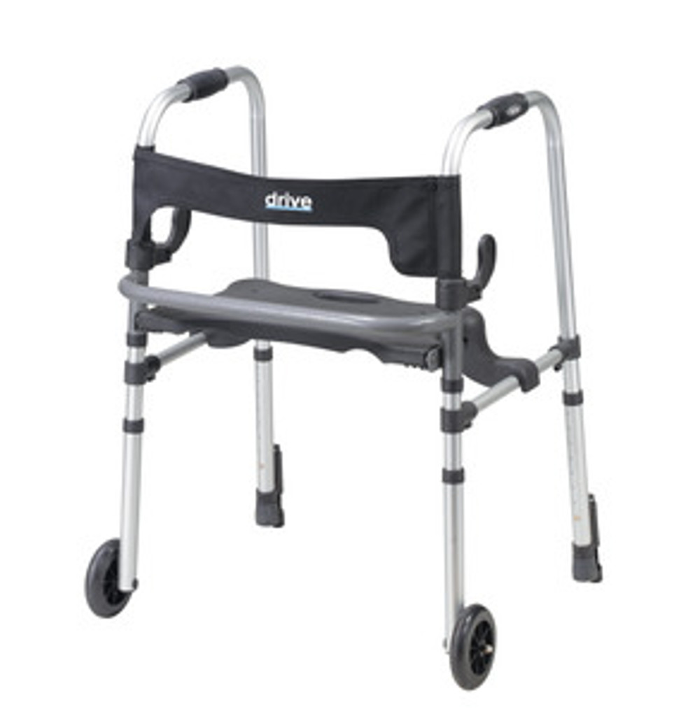 Drive Clever-Lite Ls, Adult Walker With Seat And Push-Down Brakes