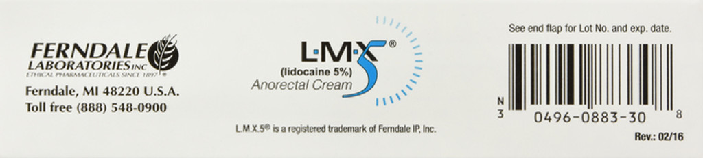 LMX 5 Cream lidocaine 5% Anorectal Disorder Treatment 30 Gram