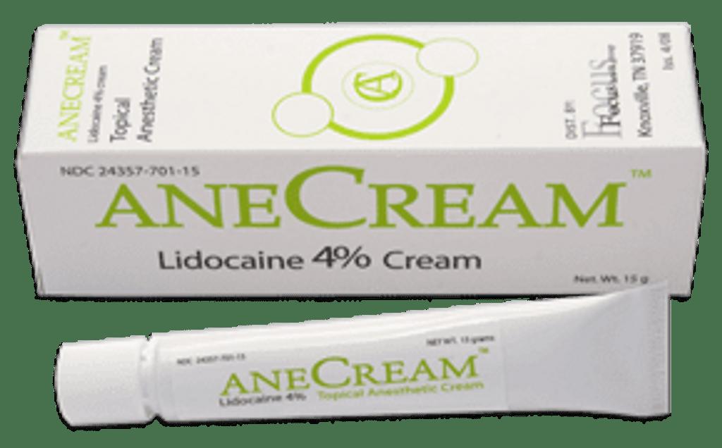 AneCream 4% Lidocaine Topical Anesthetic Cream 15 gm