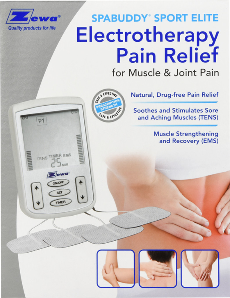 Zewa Spa Buddy Tens Electro Therapy Pain Relief for Muscle and Joint Pain