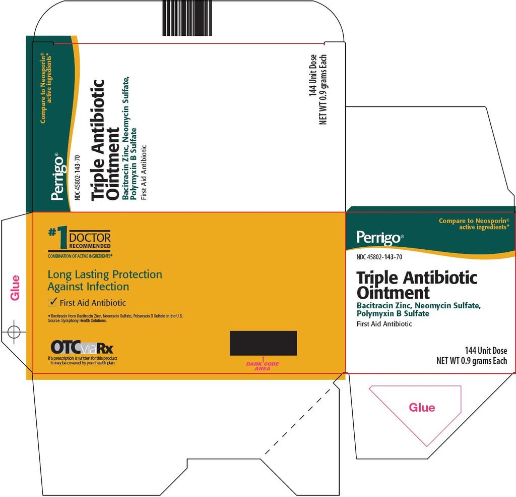 Perrigo Triple First Aid Antibiotic Ointment 144 Unit Dose X 0.9 Grams each