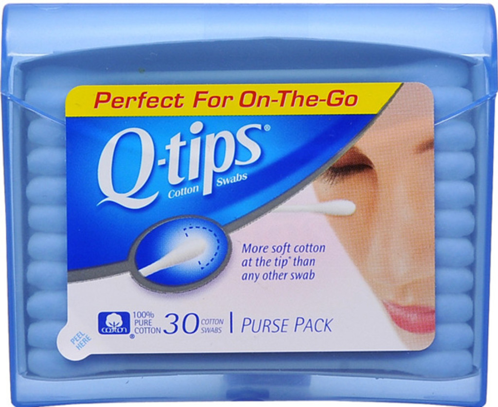 Q-tips Swabs Travel Pack Cotton Swabs 30 Count X 12 Packs