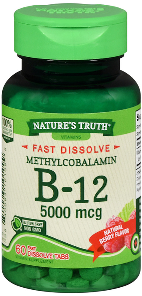 Nature's Truth B12 Vitamin 5000 mcg 60 Tablets