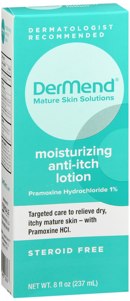 Dermend Moisturizing Anti Itch Lotion Target Care for Dry, Itchy, Mature Skin 8 Ounces