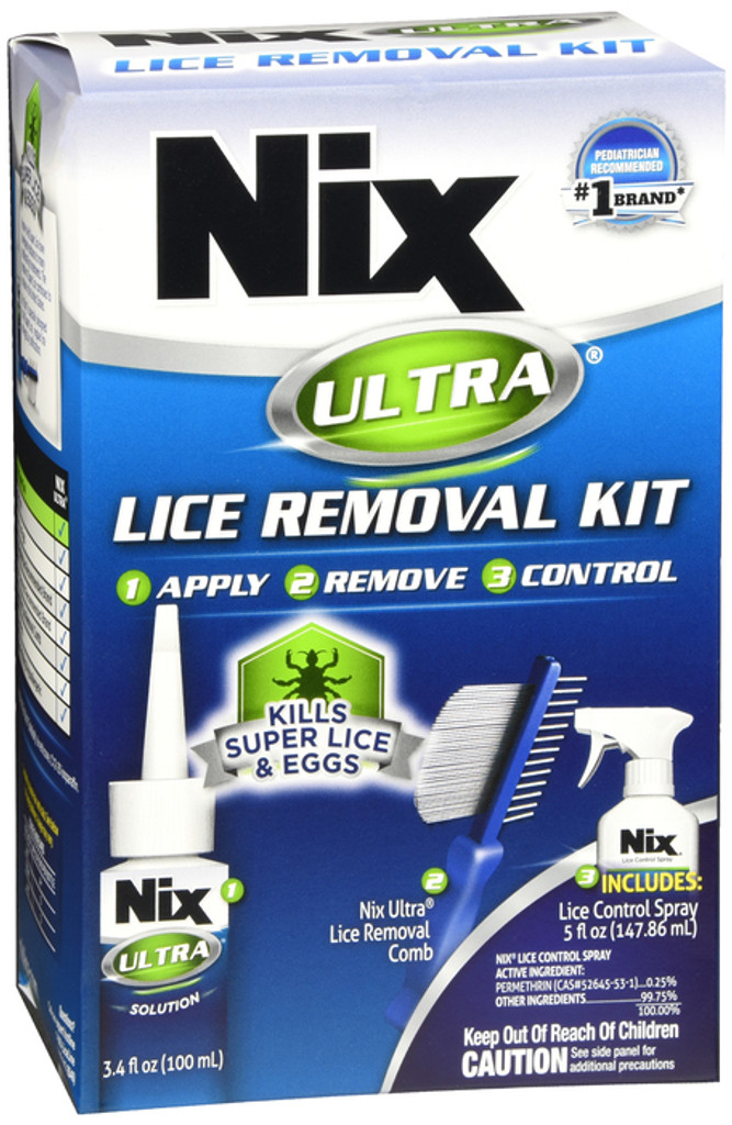 Nix Ultra Lice Removal Kit Kills Super Lice & Eggs Includes Lice Removal Comb and Control Spray
