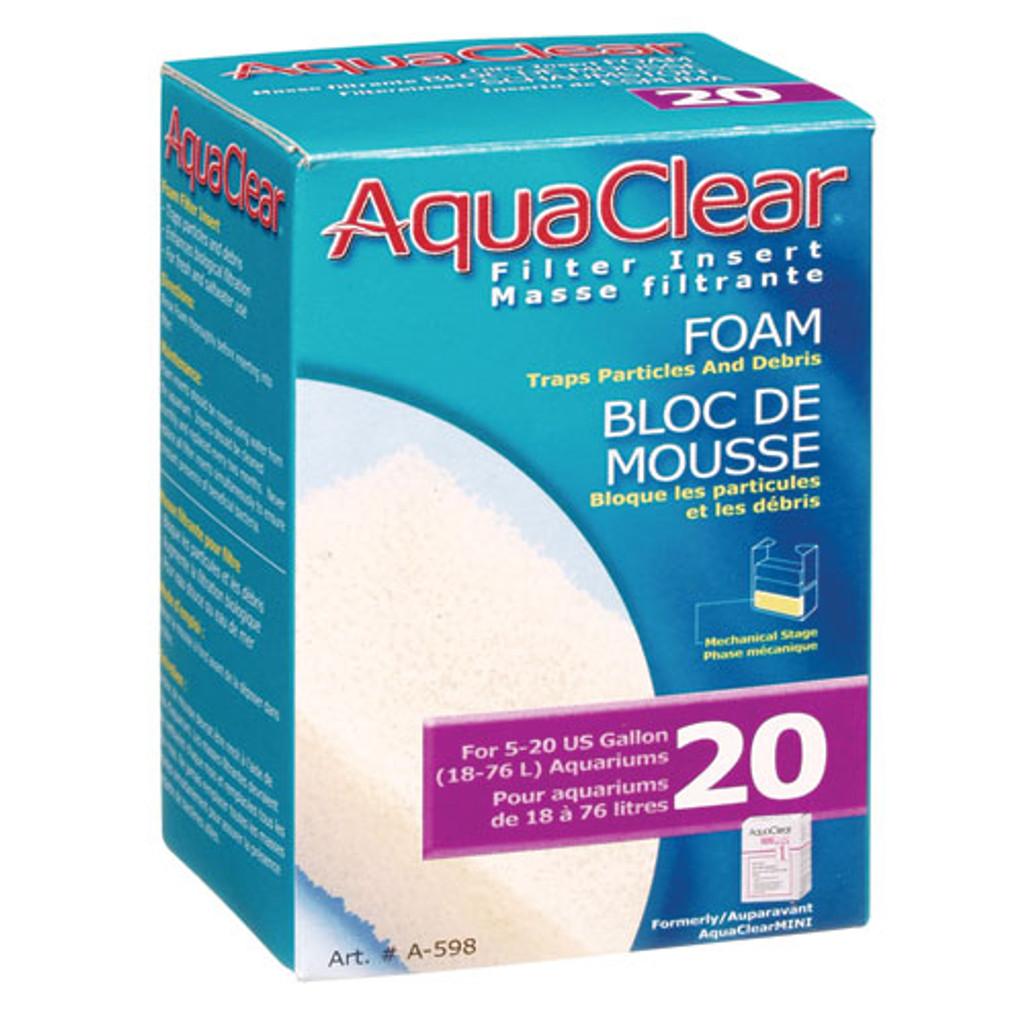 RA  Foam Filter Insert for AquaClear 20/Mini - 1 pk
