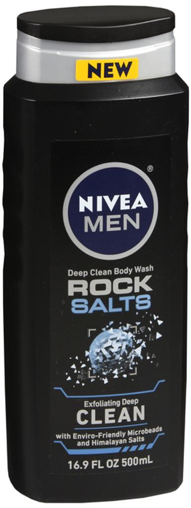 NIVEA Men Deep Rock Salts Body Wash Exfoliating Deep Clean with Himalayan Salt 16.9 fl. Oz