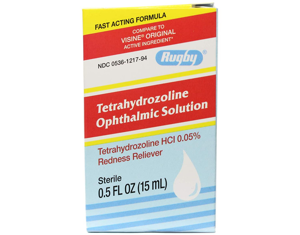Rugby Tetrahydrozoline Ophthalmic Solution 0.05% Drop 15 ml Eye Redness Reliever