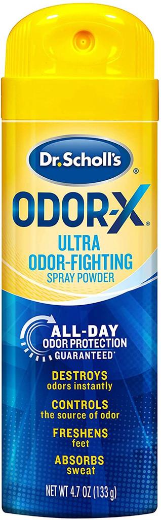 Dr. Scholls Odor X With Sweatmax Spray Powder 4.7oz 3 Counts