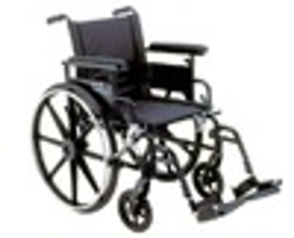 Drive Aluminum Viper Plus GT - Deluxe High Strength, Lightweight, Dual Axle with Desk Arms and Swing Away Footrest