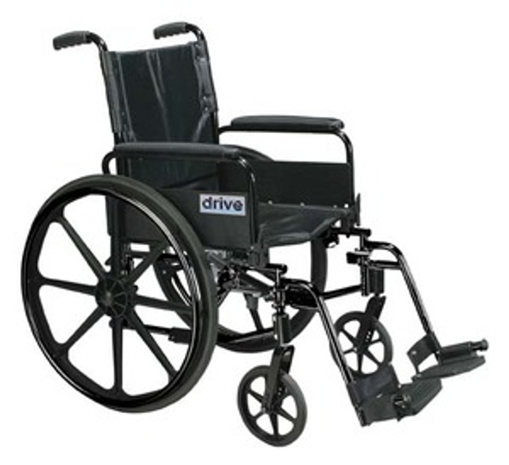 Drive Cirrus IV - High Strength, Lightweight Dual Axle with Desk Arms and Swing Away Footrests