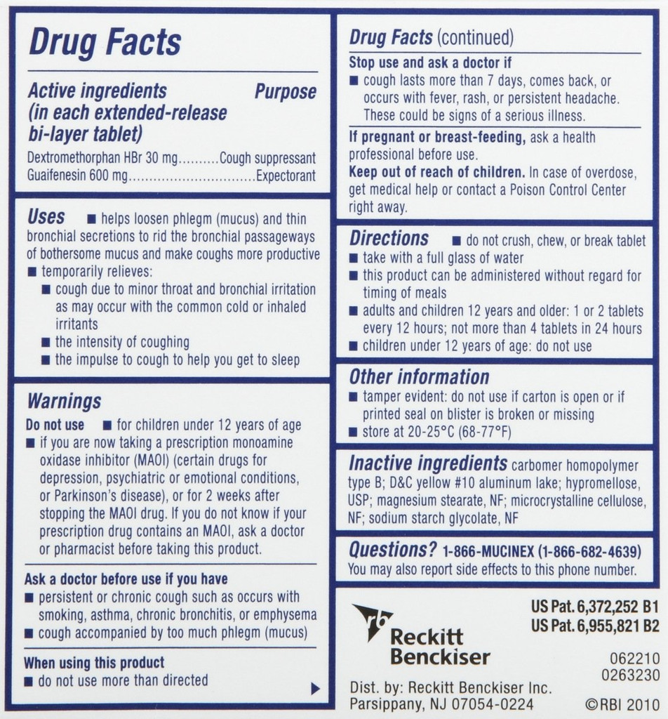 Mucinex DM Expectorant Cough Suppressant Extended Release Tablet 40ct