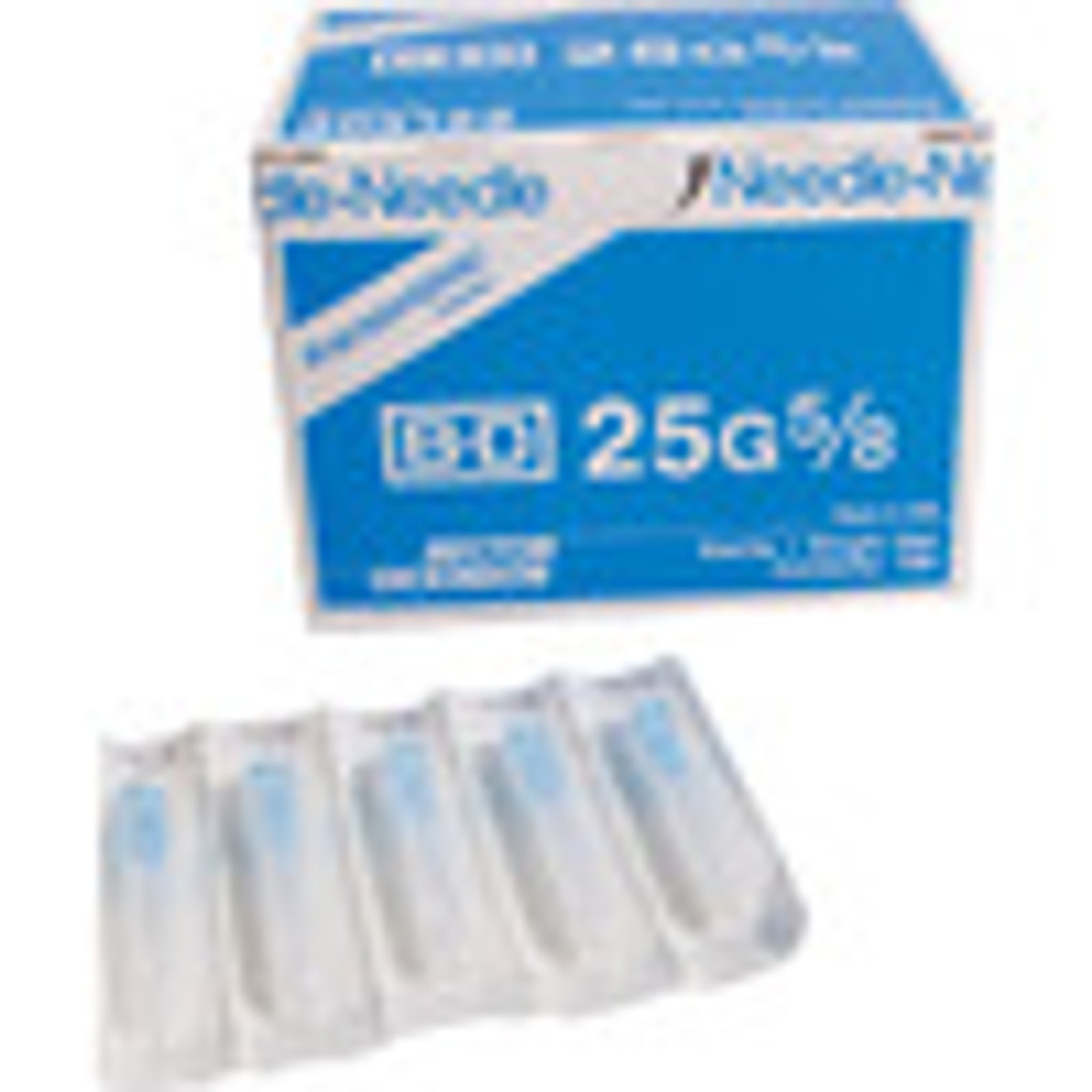 BD Needle Only 25 Gauge 5/8 inch 100/box (305122)