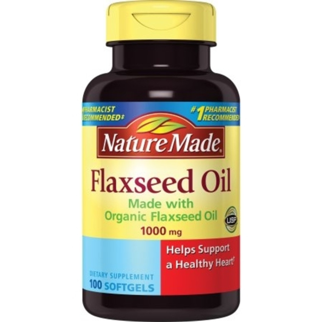 Nature Made Flaxseed Oil 1000 mg Softgels 100ct
