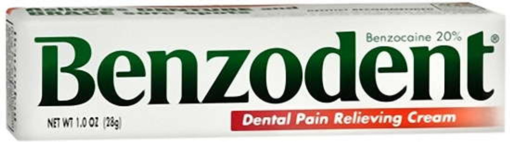Benzodent Denture pain cream 1 oz