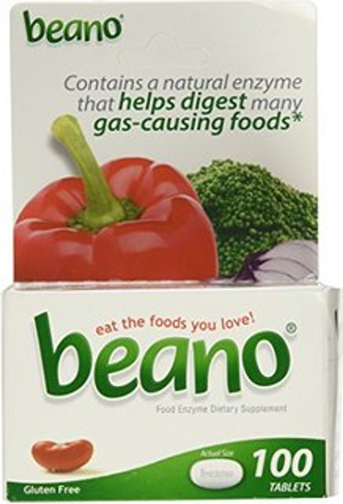 Beano Food Enzyme Tablets , Dietary Supplement - 100 ea