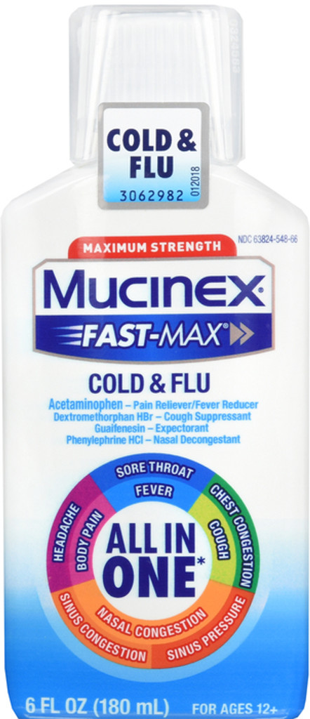 Mucinex Fast Max Cold & Flu Adult Liquid 6 oz.