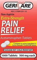 Acetamin 500mg Tablet 1000ct Geri-care