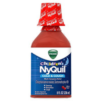 Vicks Children's NyQuil Cold & Cough Nighttime Relief Cherry Flavor Liquid 8 oz