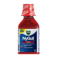 Vicks Nyquil Cough Nighttime Relief Cherry Flavor Liquid 12 Fl Oz
