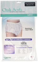 Essential Medical Supply Quik-Sorb Pull On Incontinent Pants, Large