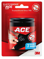 Ace Brand Black Elastic Bandage with Ace Brand Clip, 3 Inch, 0.145 Pound
