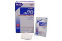 """Dukal Eye Pads #841 Sterile, 1-5/8"""" x 2-5/8"""" 1/pk, 50 pk/bx, 12 bx/cs"""